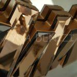 Güneş Golden Bronze Model Altın Bronz Renk Modern Ayna-20