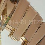 Güneş Golden Bronze Model Altın Bronz Renk Modern Ayna-21