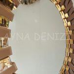 Güneş Golden Bronze Model Altın Bronz Renk Modern Ayna-22
