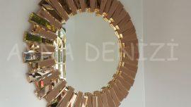 Güneş Golden Bronze Model Altın Bronz Renk Modern Ayna