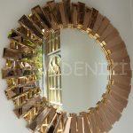 Güneş Golden Bronze Model Altın Bronz Renk Modern Ayna-3