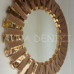 Güneş Golden Bronze Model Altın Bronz Renk Modern Ayna-4