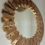 Güneş Golden Bronze Model Altın Bronz Renk Modern Ayna-5