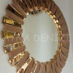 Güneş Golden Bronze Model Altın Bronz Renk Modern Ayna-6
