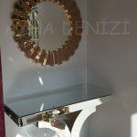 Güneş Golden Bronze Model Altın Bronz Renk Modern Ayna-7