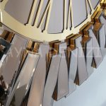 Güneş Golden Jet Bronze Model Altın Bronz Renk Dekoratif Aynalı Duvar Saati-13
