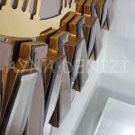 Güneş Golden Jet Bronze Model Altın Bronz Renk Dekoratif Aynalı Duvar Saati-18