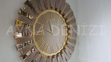 Güneş Golden Jet Bronze Model Altın Bronz Renk Aynalı Duvar Saati