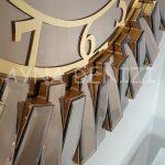 Güneş Golden Latin Bronze Model Altın Bronz Renk Dekoratif Aynalı Duvar Saati-11