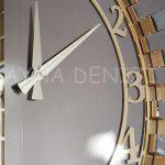 Güneş Golden Latin Bronze Model Altın Bronz Renk Dekoratif Aynalı Duvar Saati-19