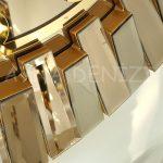 Güneş Golden Latin Bronze Model Altın Bronz Renk Dekoratif Aynalı Duvar Saati-22