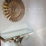 Güneş Golden Latin Bronze Model Altın Bronz Renk Dekoratif Aynalı Duvar Saati-8