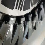 Güneş Smoked Jet Black Model Gümüş Siyah Renk Dekoratif Aynalı Duvar Saati-13