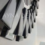 Güneş Smoked Jet Black Model Gümüş Siyah Renk Dekoratif Aynalı Duvar Saati-19