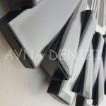 Güneş Smoked Jet Black Model Gümüş Siyah Renk Dekoratif Aynalı Duvar Saati-20