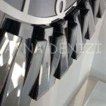 Güneş Smoked Latin Model Gümüş Füme Renk Dekoratif Aynalı Duvar Saati-15