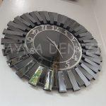 Güneş Smoked Latin Model Gümüş Füme Renk Dekoratif Aynalı Duvar Saati-8