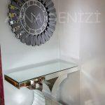Güneş Smoked Latin Model Gümüş Füme Renk Dekoratif Aynalı Duvar Saati-9