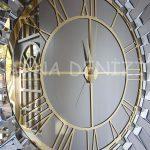 Güneş White Golden Model Altın Bronz Renk Dekoratif Aynalı Duvar Saati-13
