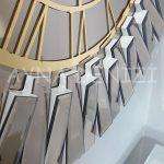Güneş White Golden Model Altın Bronz Renk Dekoratif Aynalı Duvar Saati-14