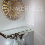 Güneş White Golden Model Altın Bronz Renk Dekoratif Aynalı Duvar Saati-8