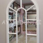 Lecce Model Beyaz Renk Dekoratif Pencere Ayna-12