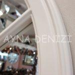 Lecce Model Beyaz Renk Dekoratif Pencere Ayna-15