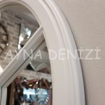 Lecce Model Beyaz Renk Dekoratif Pencere Ayna-19