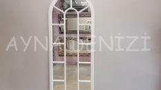 Lecce Model Beyaz Renk Dekoratif Pencere Ayna
