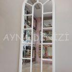 Lecce Model Beyaz Renk Dekoratif Pencere Ayna-3