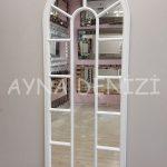 Lecce Model Beyaz Renk Dekoratif Pencere Ayna-8