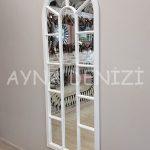 Lecce Model Beyaz Renk Dekoratif Pencere Ayna-9