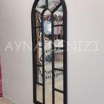 Lecce Model Siyah Renk Dekoratif Pencere Ayna-10