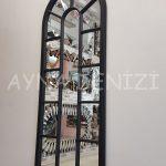 Lecce Model Siyah Renk Dekoratif Pencere Ayna-11