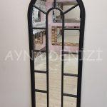 Lecce Model Siyah Renk Dekoratif Pencere Ayna-12
