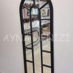 Lecce Model Siyah Renk Dekoratif Pencere Ayna-13