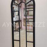 Lecce Model Siyah Renk Dekoratif Pencere Ayna-14