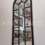 Lecce Model Siyah Renk Dekoratif Pencere Ayna-15