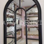 Lecce Model Siyah Renk Dekoratif Pencere Ayna-16