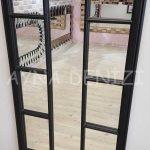Lecce Model Siyah Renk Dekoratif Pencere Ayna-17