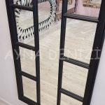 Lecce Model Siyah Renk Dekoratif Pencere Ayna-19