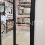 Lecce Model Siyah Renk Dekoratif Pencere Ayna-21