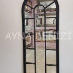 Lecce Model Siyah Renk Dekoratif Pencere Ayna-3