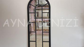 Lecce Model Siyah Renk Dekoratif Pencere Ayna