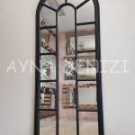 Lecce Model Siyah Renk Dekoratif Pencere Ayna-4