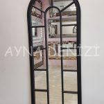 Lecce Model Siyah Renk Dekoratif Pencere Ayna-5