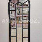 Lecce Model Siyah Renk Dekoratif Pencere Ayna-6