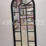 Lecce Model Siyah Renk Dekoratif Pencere Ayna-7
