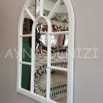 Modena Model Beyaz Renk Dekoratif Pencere Ayna-15