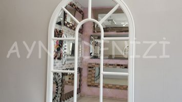 Modena Model Beyaz Renk Dekoratif Pencere Ayna